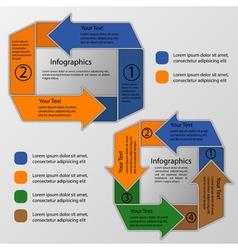 Circular arrows infographics vector