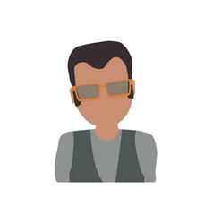 adult male avatar elder faceless vector image vector image