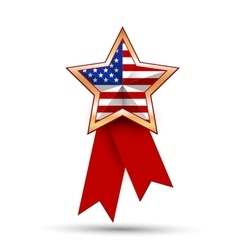 American flag as star shaped symbol vector image vector image