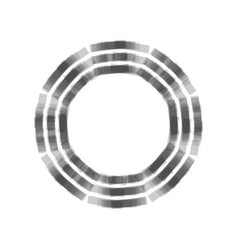 Bagua sign gray icon shaked at white vector