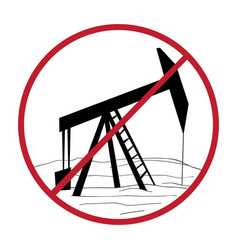 ban oil rig vector image