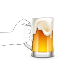 Beer Glass Isolated vector image vector image