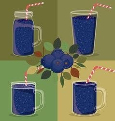 Blueberry juice vector