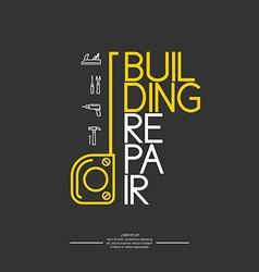 Building repair infographics vector