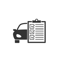 car service list icon vector image