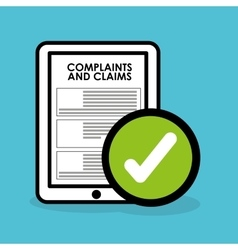 Complaints and claims icon vector