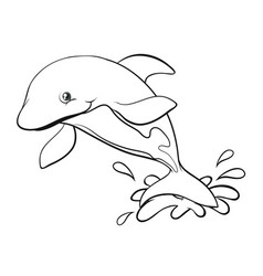 Doodles drafting animal for dolphin vector