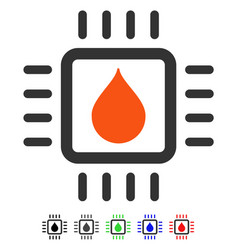 Drop analysis chip flat icon vector