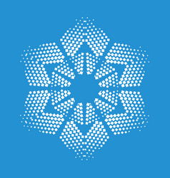 Figurate snowflake icon simple style vector