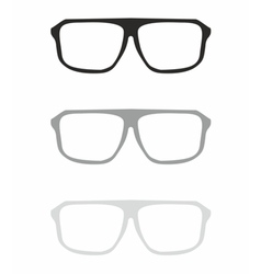Glasses set isolated on white vector image vector image