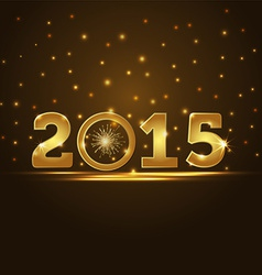 Golden 2015 year card presentation vector