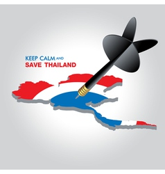 KEEP CALM AND SAVE THAILAND vector image vector image