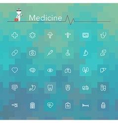 Medicine line icons vector