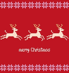Merry christmas pixels vector