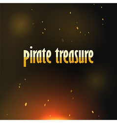 Pirate treasure vector