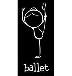 Simple ballet doodle vector