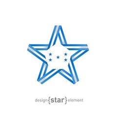 Star with honduras flag colors and symbols design vector