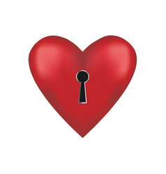 unlock me key to my heart vector image
