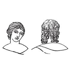 Vitta as an ordinary portion vintage engraving vector
