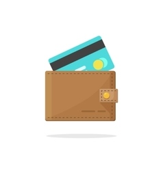 Wallet credit card isolated vector image vector image