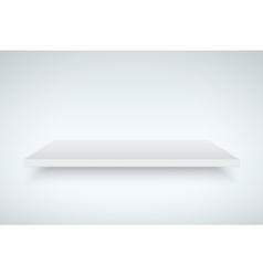 White light box platform vector image vector image