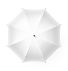 White umbrella vector image vector image