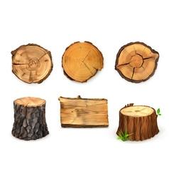 Wooden banner vector image