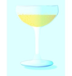 A glass of bubbly background vector