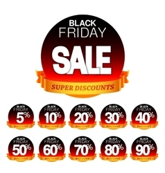 Black friday sale stickers vector