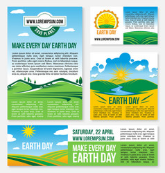 Save planet nature templates for earth day vector