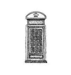 dotwork london telephone box vector image