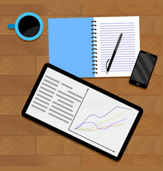 Infographic analytics statistical vector