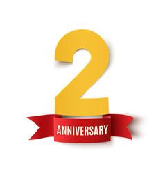 Two years anniversary design vector