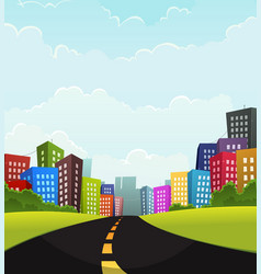 Summer or spring town vector