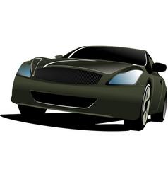Black car sedan on the road vector