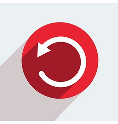Red circle icon on gray background eps10 vector