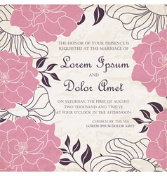 Invitation card vintage vector