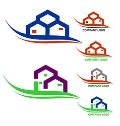 Real estate company logo vector