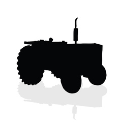 Tractor black silhouette vector