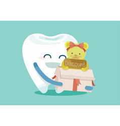 Gift for sale dental vector