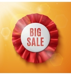Big sale realistic red fabric award ribbon vector