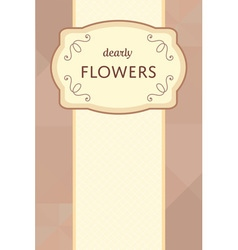 Flower garden card 03 1 vector