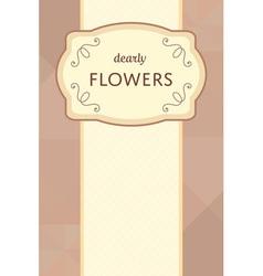 flower garden card 03 1 vector image