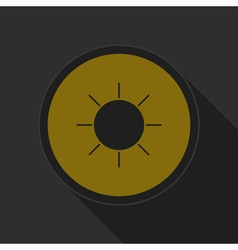Dark gray and yellow icon - sunny vector