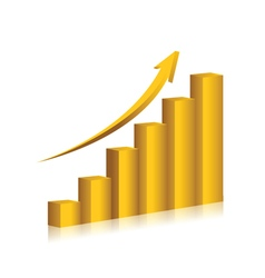 Business chart gold color design vector