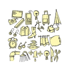 House stuff vector