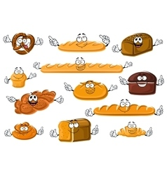 Healthy fresh bakery and pastry products vector image