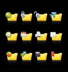 application folders vector image