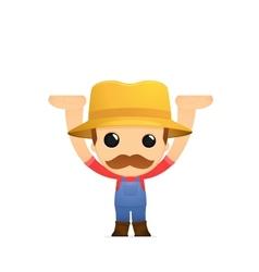 funny cartoon farmer vector image