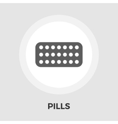Contraceptive pills flat icon vector